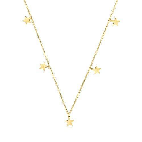 Złoty naszyjnik celebrytka - Gwiazdki pr.585