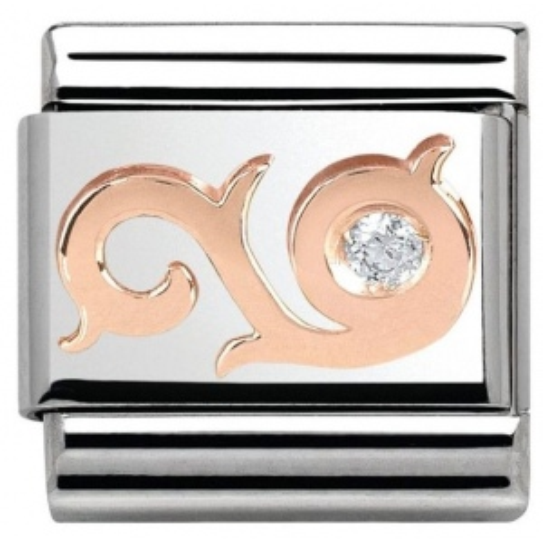 Nomination -  Link Rose Gold Curl z Cyrkonią 430305/03