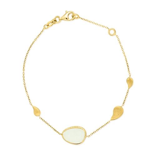 Złota bransoletka z kwarcem 17-19cm pr.585