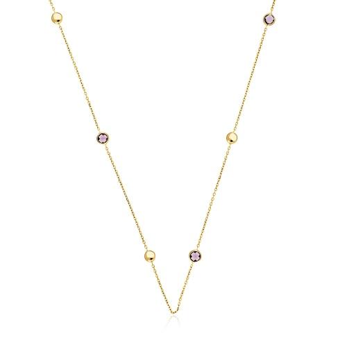Złoty naszyjnik z kryształkami pr.585