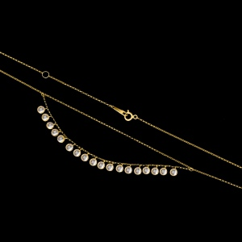 Złoty naszyjnik z cyrkoniami pr.585