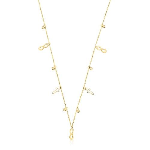 Złoty naszyjnik celebrytka - Nieskończona Wiara pr.585