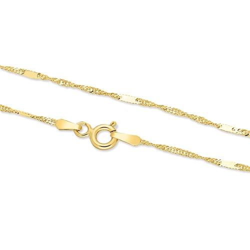 Złoty łańcuszek - Zdobiony Singapur 45cm pr.333