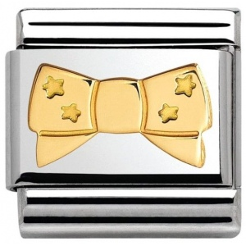 Nomination - Link 18K Gold Kokarda z Gwiazkami 030162/23