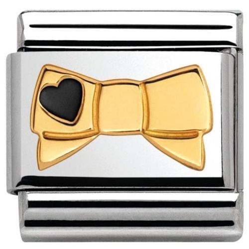 Nomination - Link 18K Gold Kokarda z Serduszkiem 030285/44