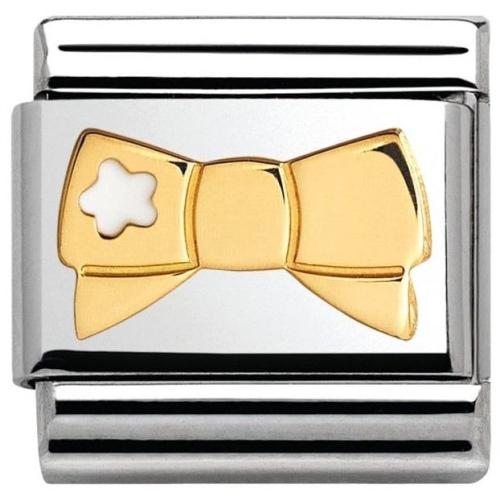 Nomination - Link 18K Gold Kokarda z Białą Gwiazdką 030285/41