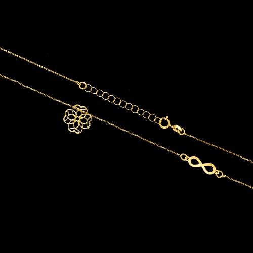 Złoty naszyjnik celebrytka - Nieskończone szczęście pr.333