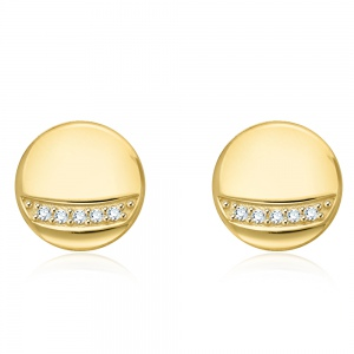 Złote kolczyki z cyrkoniami - Monety pr.333