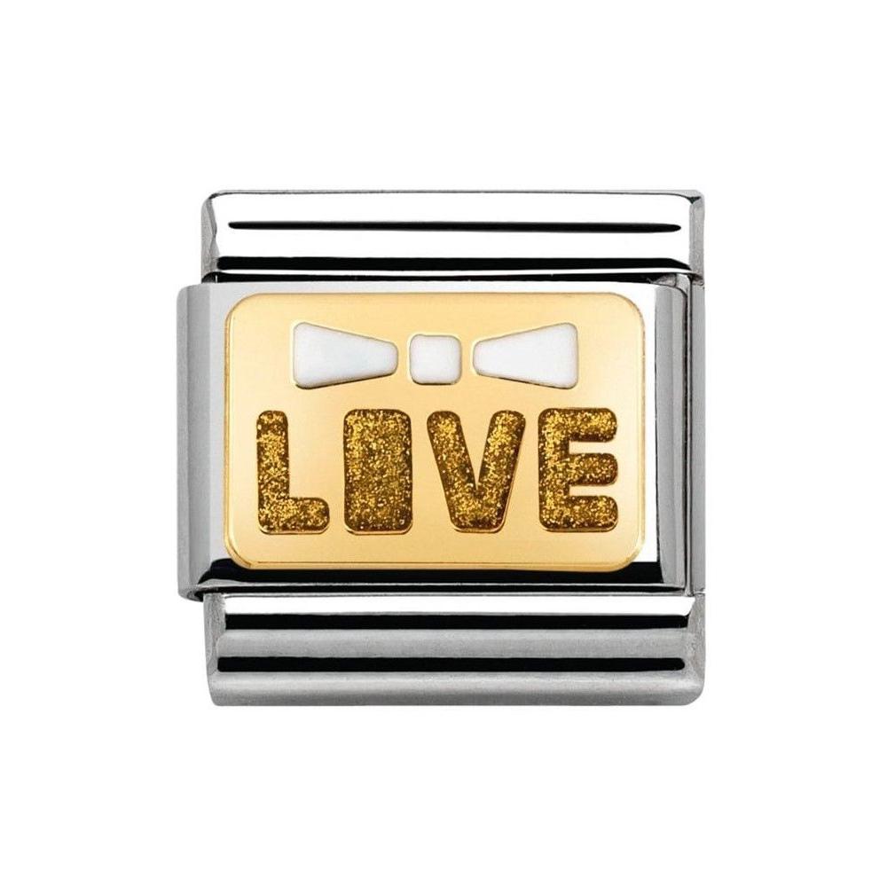 Nomination - Link 18K Gold 'Napis Love' 030280/47