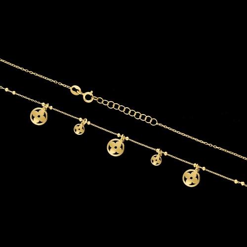 Pozłacany naszyjnik - Marokańskie Koniczyny pr.925