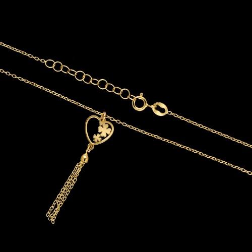 Srebrny naszyjnik celebrytka - Szczęście w Miłości pr.925