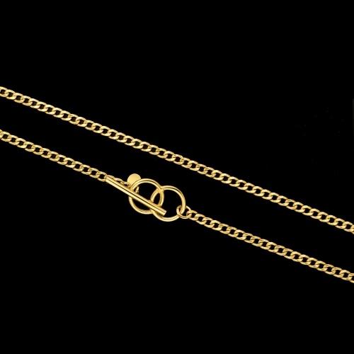 Pozłacany naszyjnik przewlekany - Pierścienie pr.925