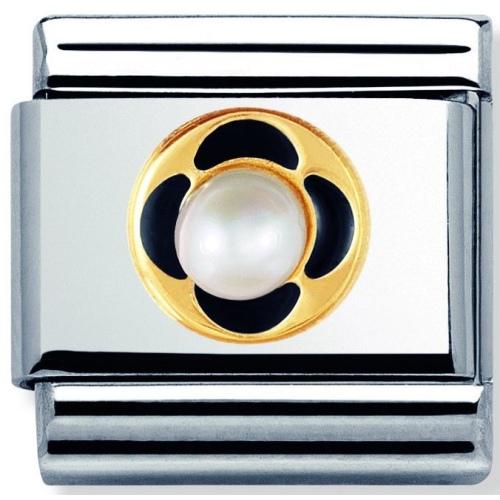 Nomination - Link 18K Gold 'Perła' 030512/04