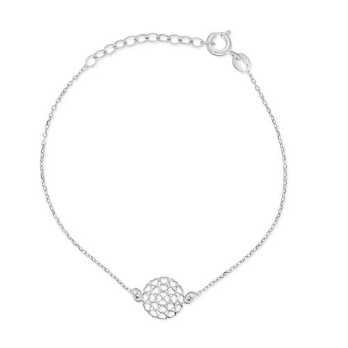 Srebrna bransoletka celebrytka - Serduszka pr.925