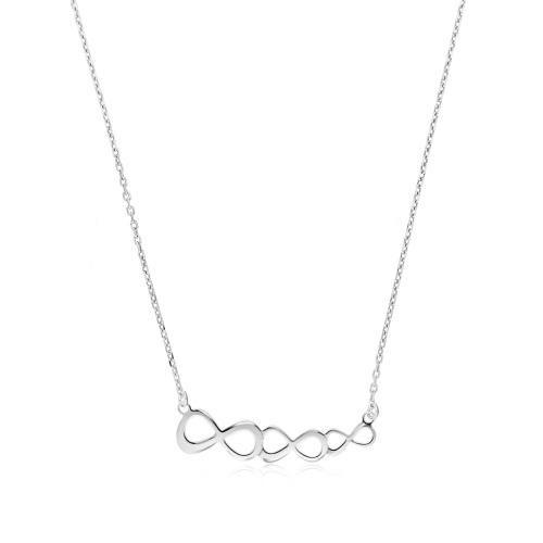 Srebrny naszyjnik  - Nieskończoności pr.925