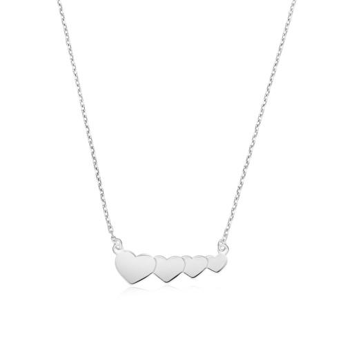 Srebrny naszyjnik  - Serca pr.925