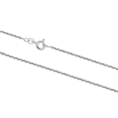 Srebrny łańcuszek - Ankier 45cm pr.925