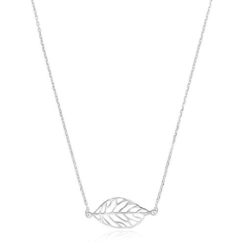 Srebrny naszyjnik celebrytka - Liść pr.925