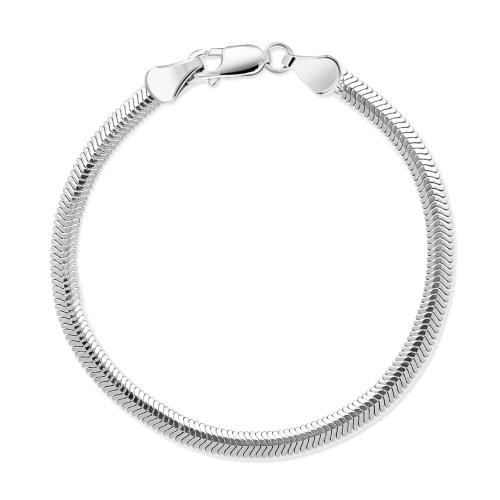 Srebrna bransoletka - Żmijka płaska 19cm pr.925