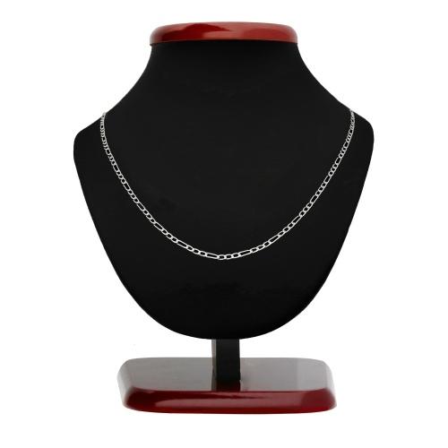 Srebrny łańcuszek - Figaro 50cm pr.925