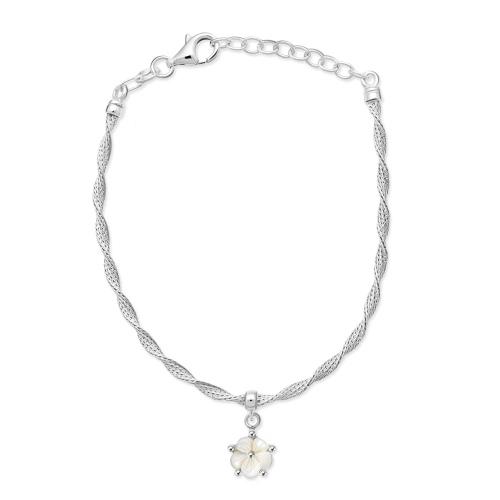 Srebrna bransoletka - Kwiatek pr.925