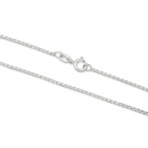 Srebrny łańcuszek - Zdobiona Kostka 45cm pr.925