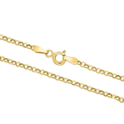 Złoty łańcuszek - Ankier 50cm pr.585