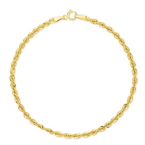 Złota Bransoletka Kordel 19cm pr.585