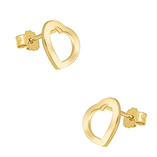 Złote kolczyki - Serduszka pr.585