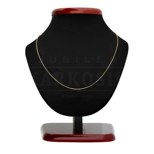 Złoty łańcuszek - Kulki 44cm pr.585