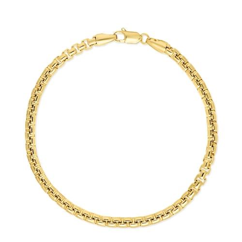 Złota bransoletka - Kostka 19cm pr.585