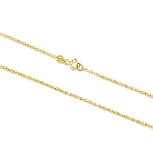 Złoty łańcuszek - Ankier 65cm pr.585