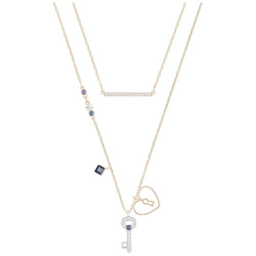 Naszyjnik SWAROVSKI - Glowing Necklace Oval Key Set, Versatile 5273295