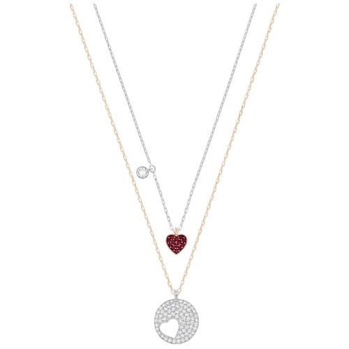 Naszyjnik SWAROVSKI - Crystal Wishes Heart Pendant, Versatile 5255351