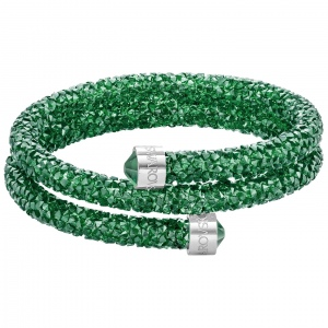Bransoletka SWAROVSKI - Crystaldust Bangle Double, Dark Green 5273642