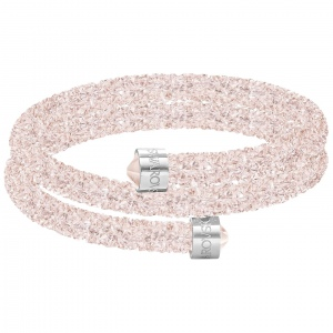 Bransoletka SWAROVSKI - Crystaldust Bangle Double, Rose Pink 5273640
