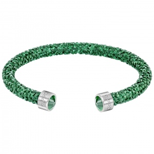 Bransoletka SWAROVSKI - Crystaldust Cuff, Bright Green 5292919