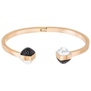 Bransoletka SWAROVSKI - Glance Bangle Black 5254011 M