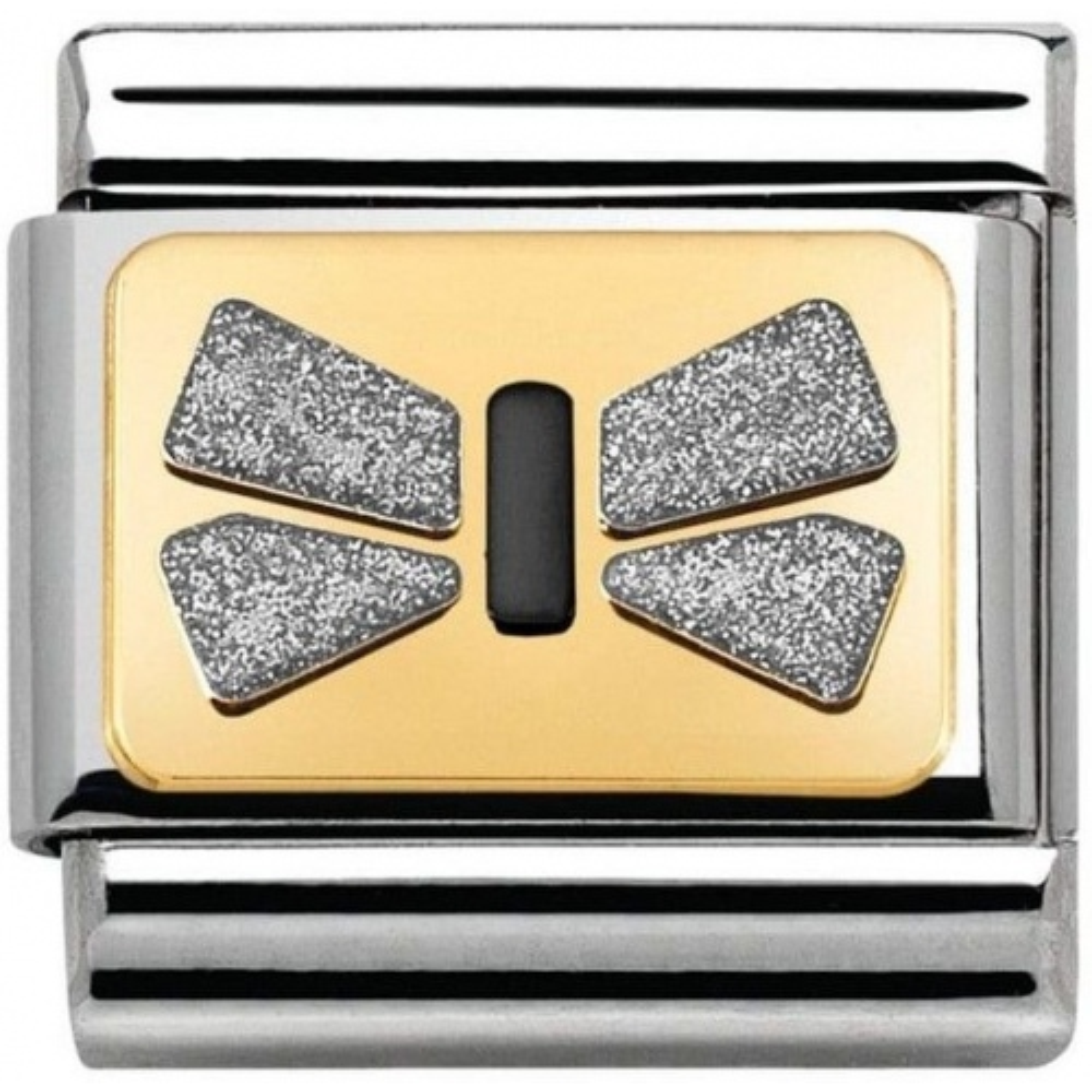 Nomination - Link 18K Gold 'Srebrna Kokarda' 030280/43