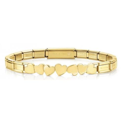 Bransoletka Nomination Trendsetter Gold - Serduszka 021111/001