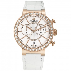 Zegarek Swarovski Citra Sphere Chrono White Rose Gold Tone 5080602