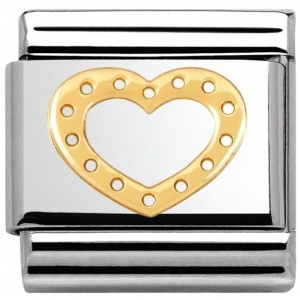 Nomination - Link 18K Gold  Heart Classic 030116/19