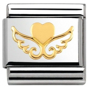 Nomination - Link 18K Gold Angel Heart 030116/20