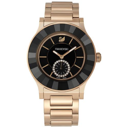 Zegarek Swarovski Octea Classica Black Rose Gold Tone Bracelet 5043192