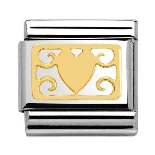Nomination - Link 18K Gold 'Elegance Heart' 030153/04