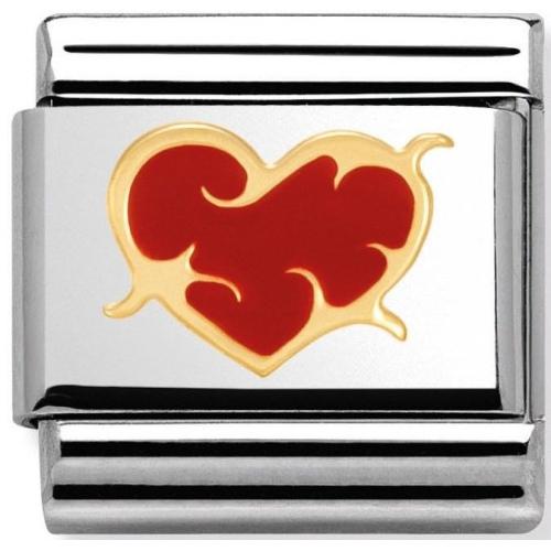 Nomination - Link 18K Gold 'Thorn Heart' 030253/39