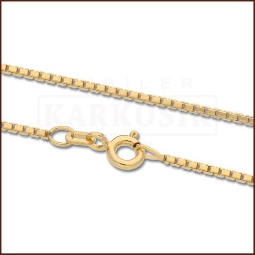 Złoty Łańcuszek Kostka 45 cm pr. 585