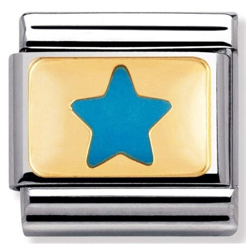 Nomination - Link 18K Gold 'Niebieska Gwiazda' 030209/11
