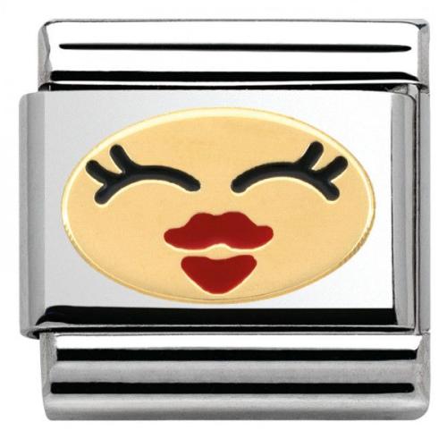 Nomination - Link 18K Gold 'Jej Uśmiech' 030243/25