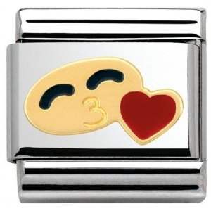 Nomination - Link 18K Gold 'His Smile with Heart' 030243/29